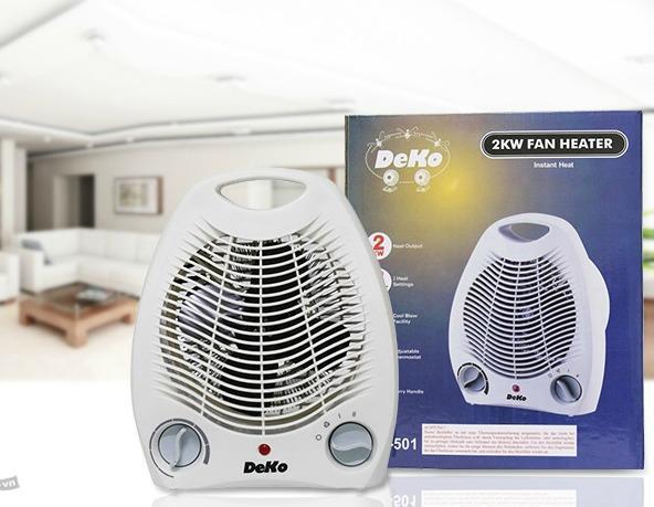 trong nhà ấm hơn với quạt sưởi điện 2 chiều deko