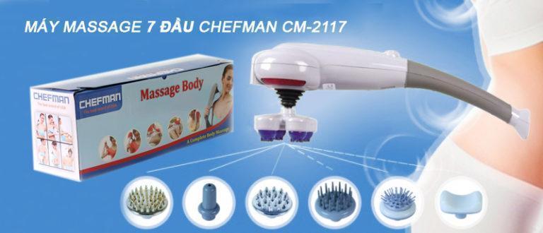 Thiết kế của máy massage cầm tay 7 đầu Chefman